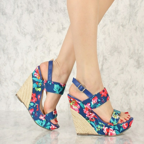Chase Chloe Shoes Floral Wedges Poshmark